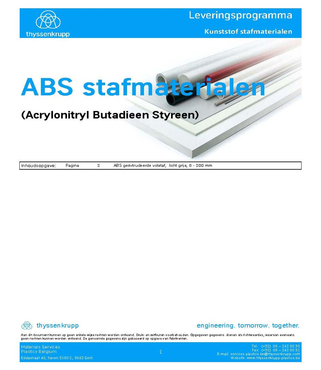 Afbeelding ABS staf leveringsprogramma