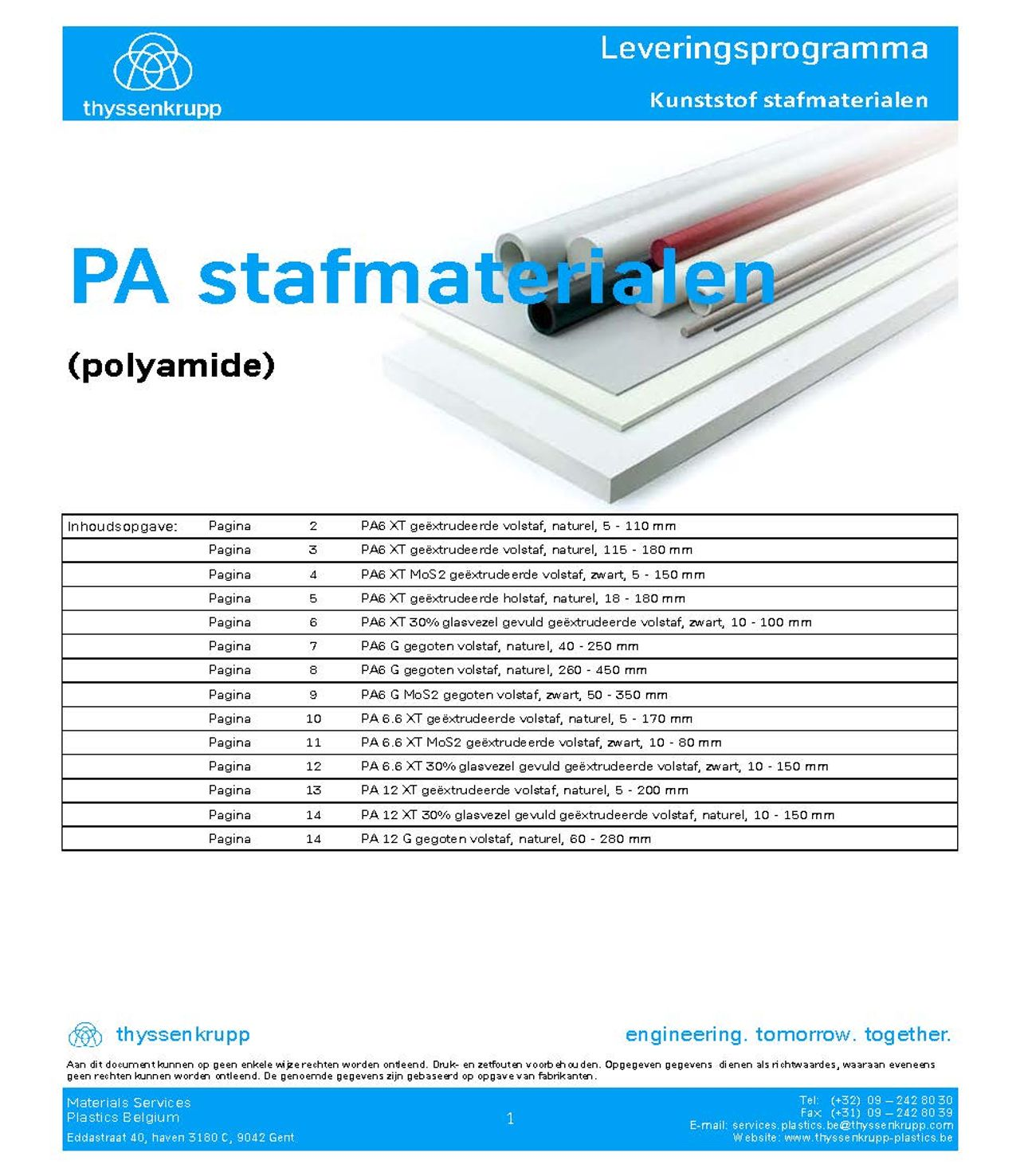 Afbeelding Cover PA staf leveringsprogramma