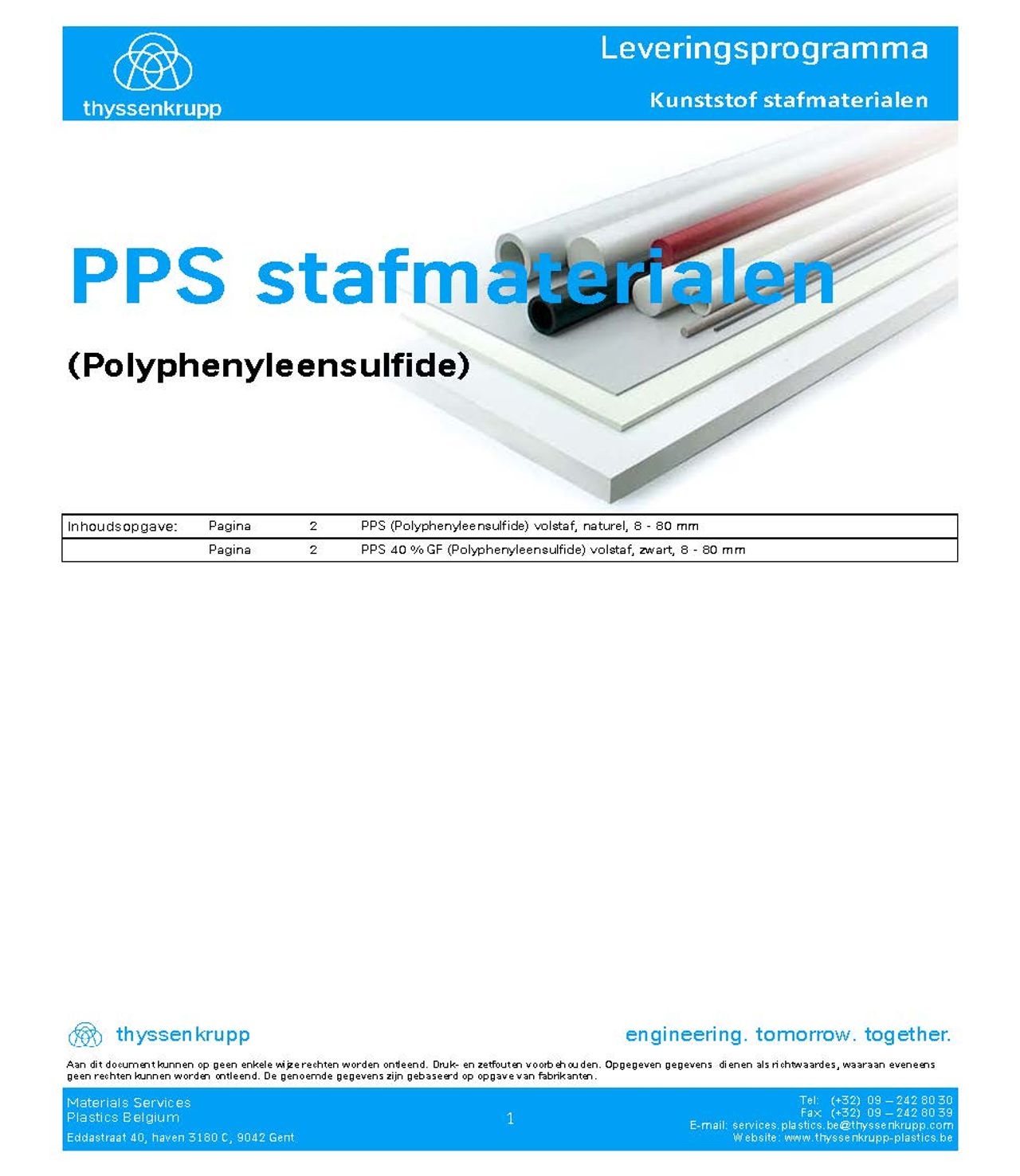 Afbeelding Cover PPS leveringsprogramma