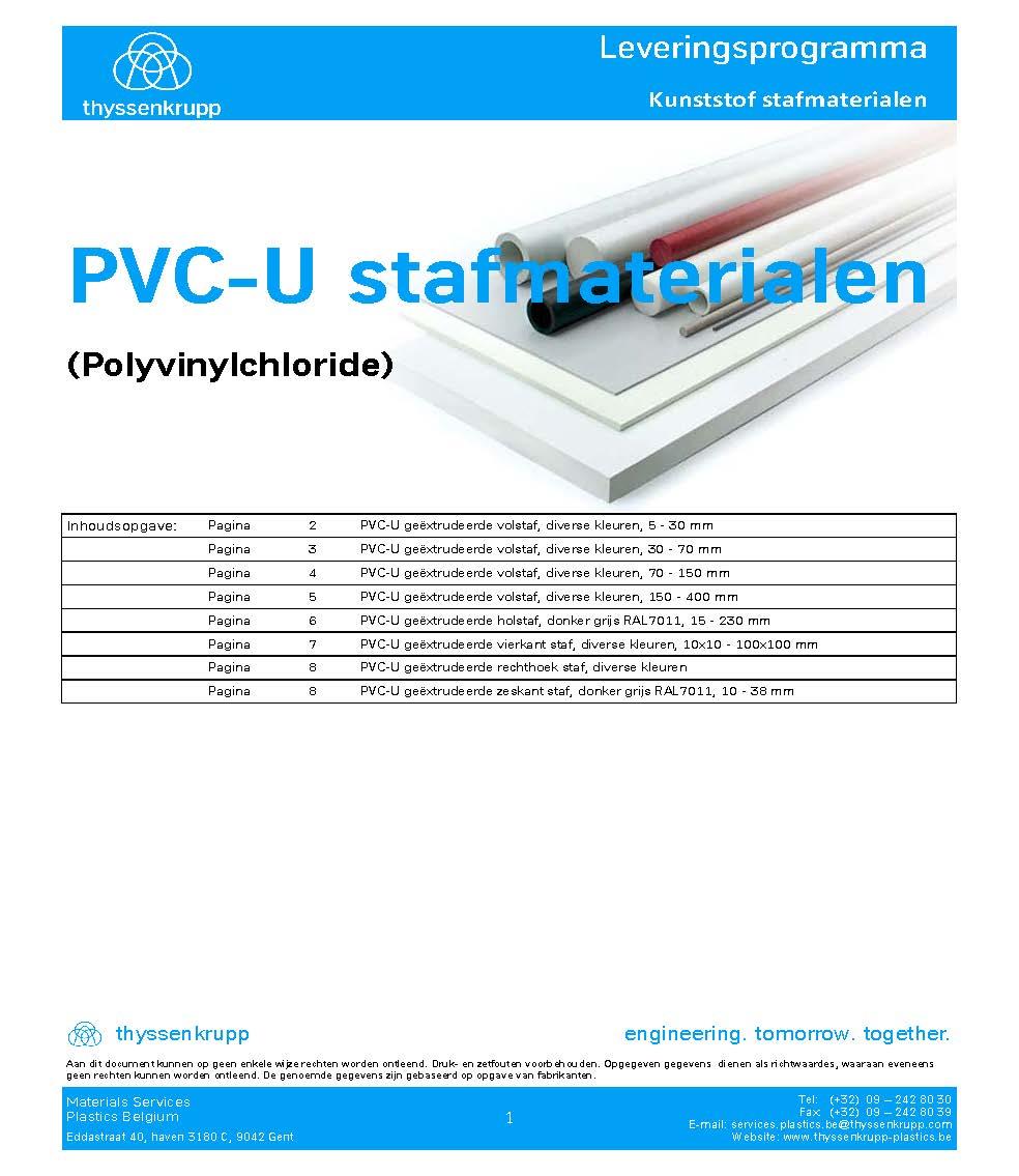 Afbeelding Cover PVC-U staf leveringsprogramma