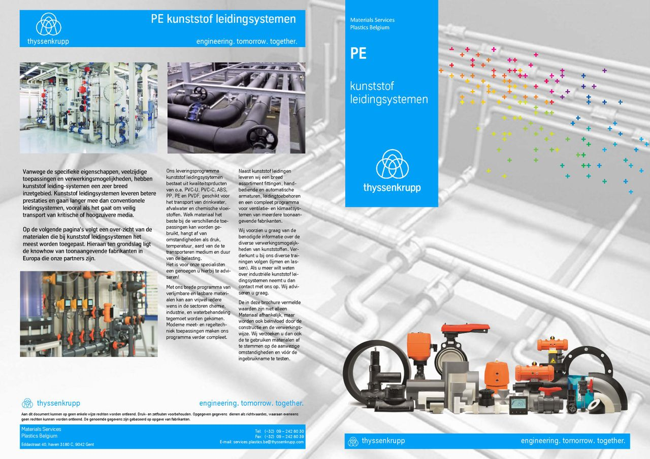 Afbeelding cover PE leidingsystemen brochure
