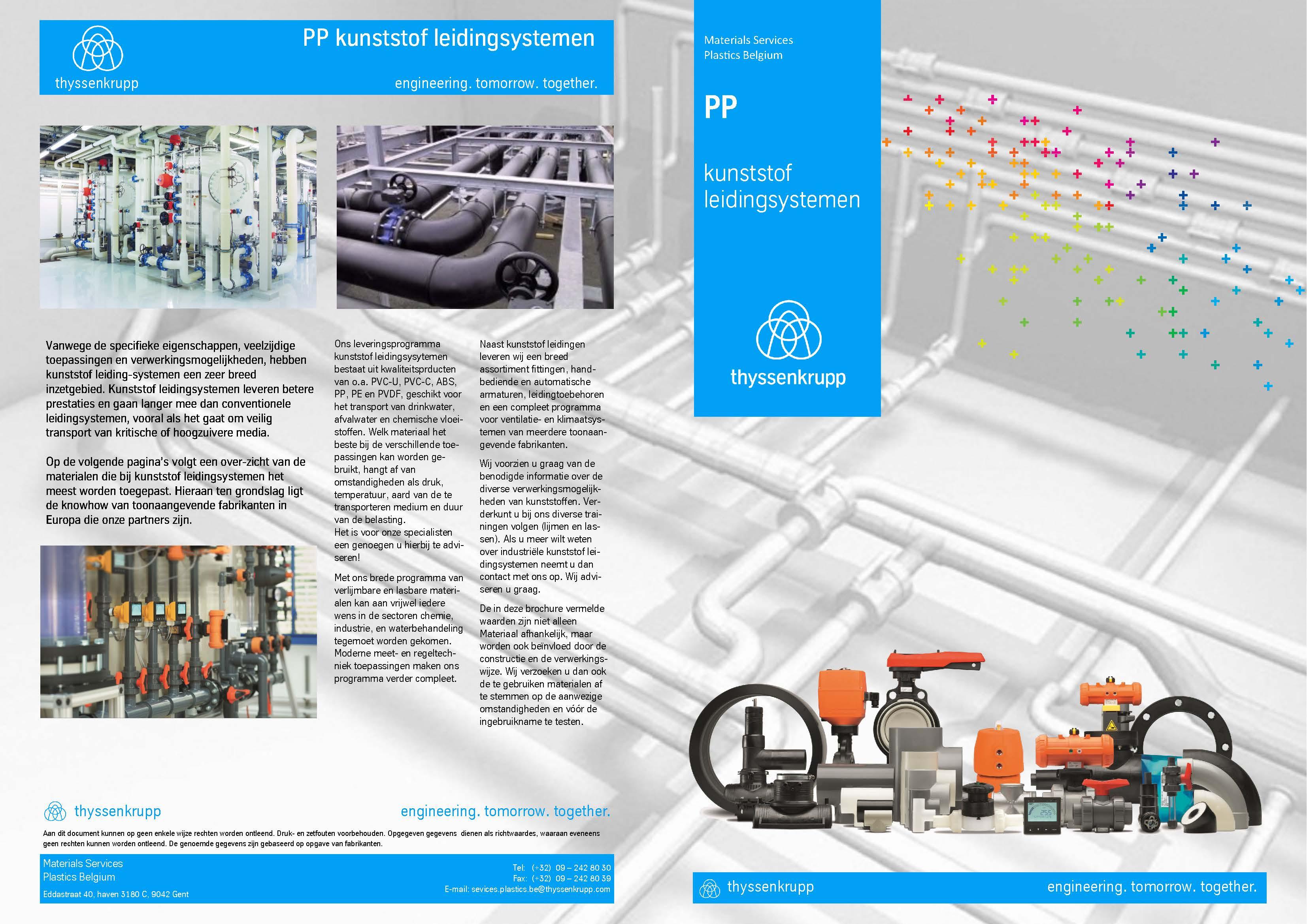 Afbeelding cover PP industriële leidingsystemen brochure