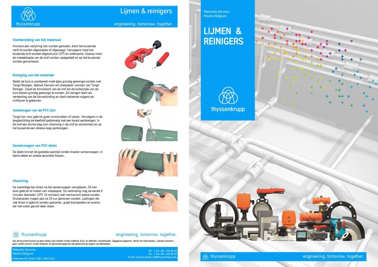 Afbeelding cover brochure reinigers en lijmen