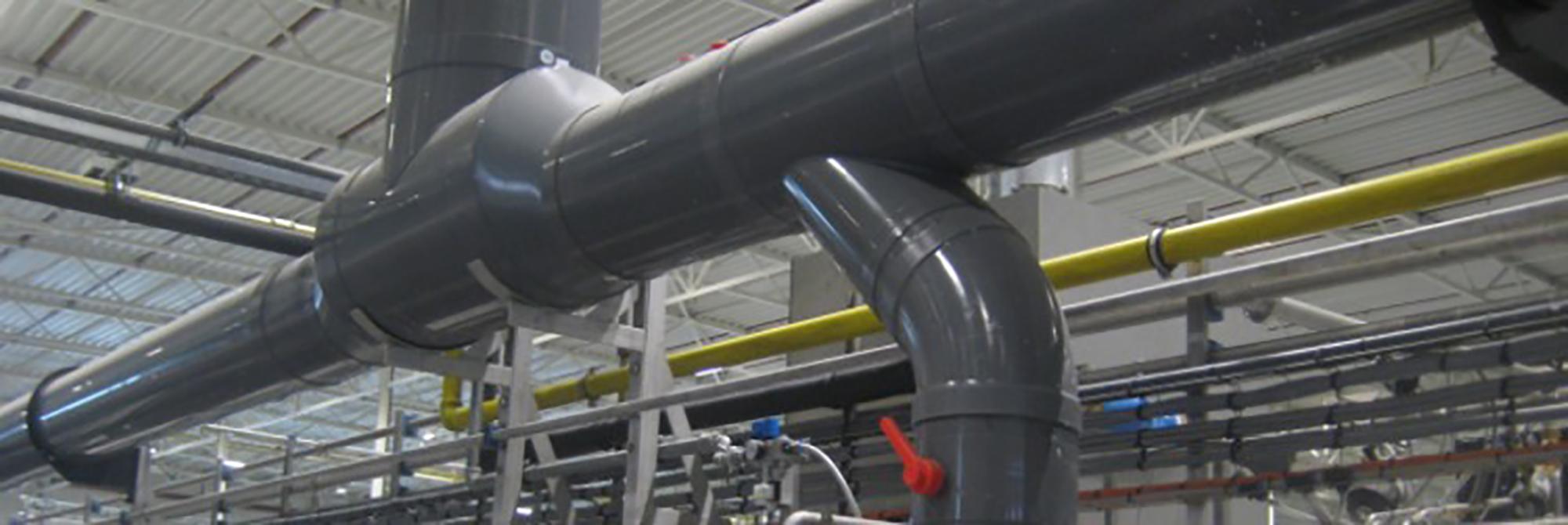 Afbeelding ventilatie leidingsystemen