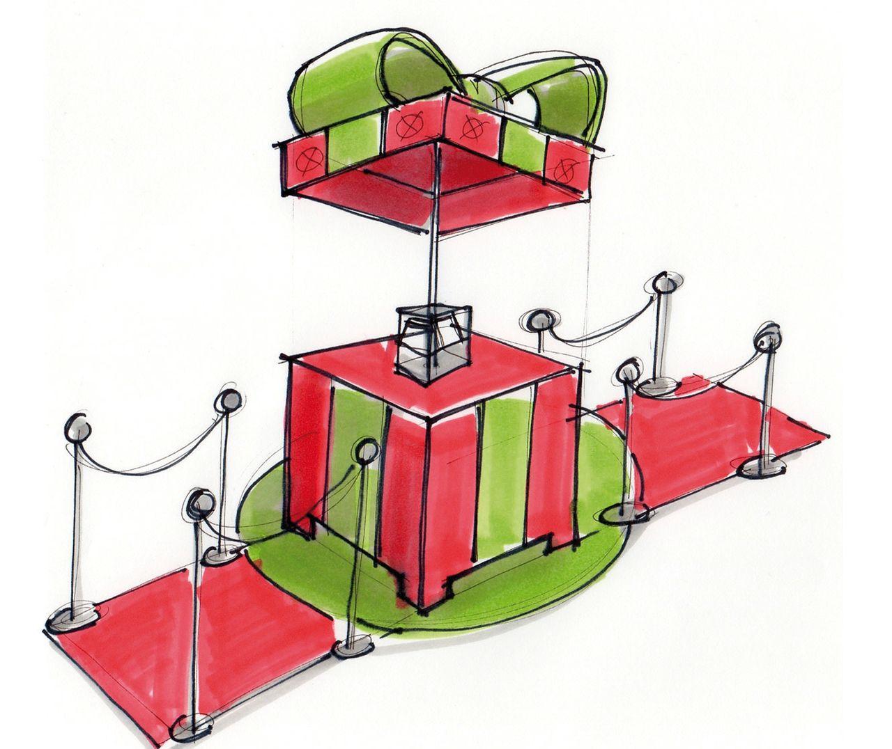 Afbeelding kadobox ontwerp