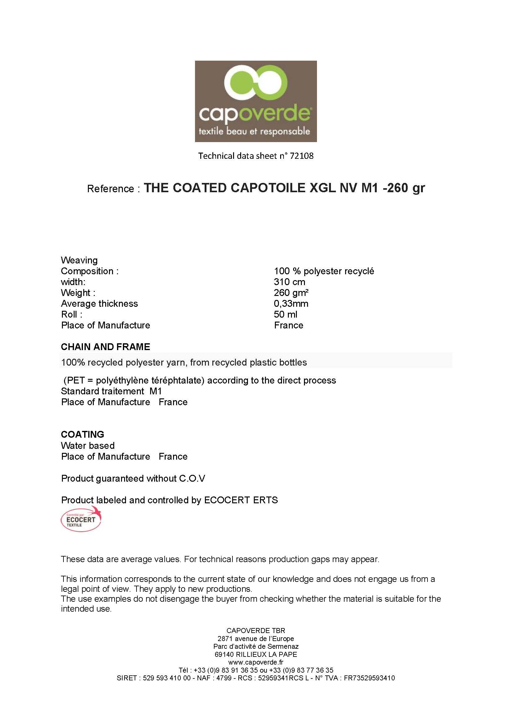 Afbeelding Cover technische fiche Capotoile