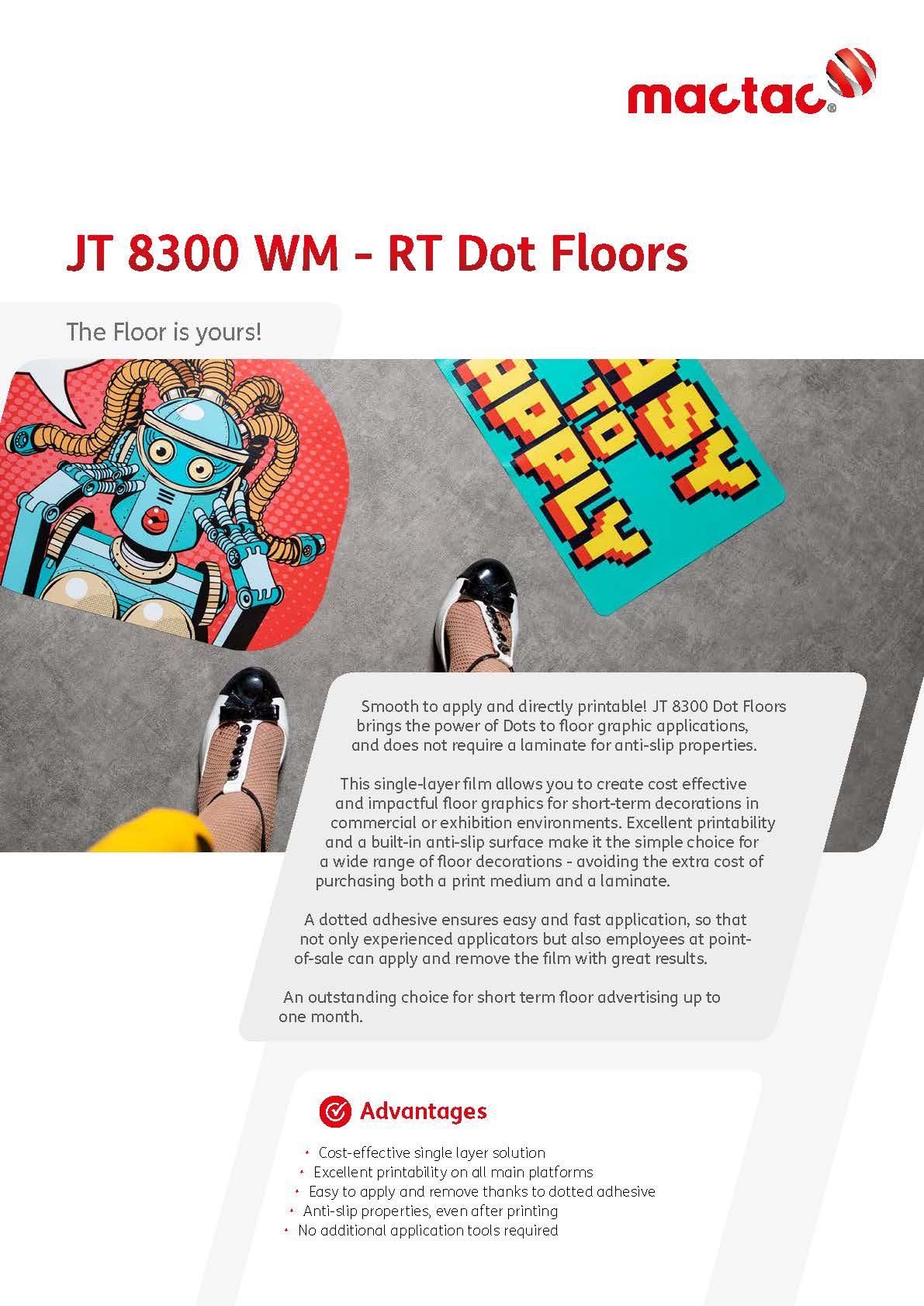 Afbeelding Cover Borchure JT 8300 Dot Floors