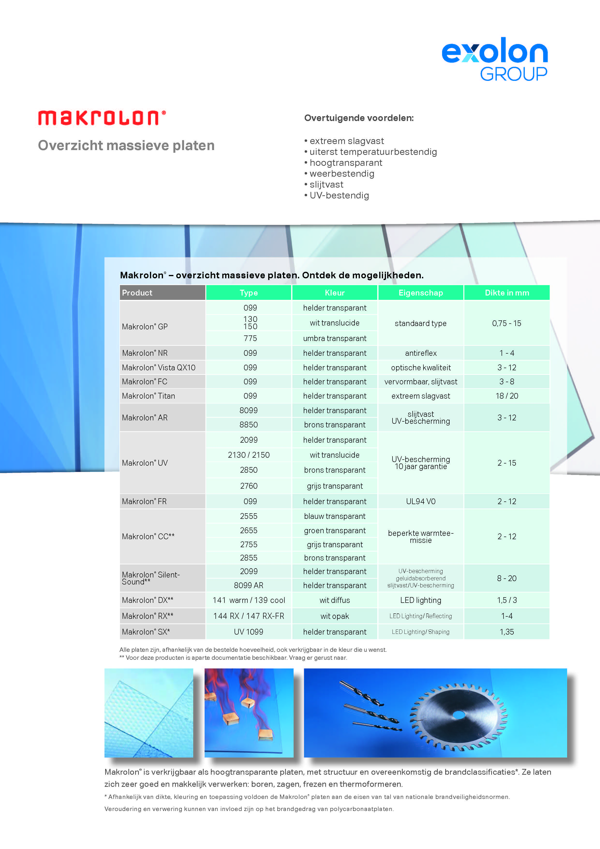 Afbeelding Cover brochure Makrolon overzichtsfolder