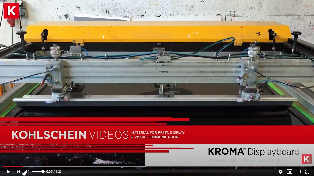 Image video KROMA® - Screen Printing - Die Cutting
