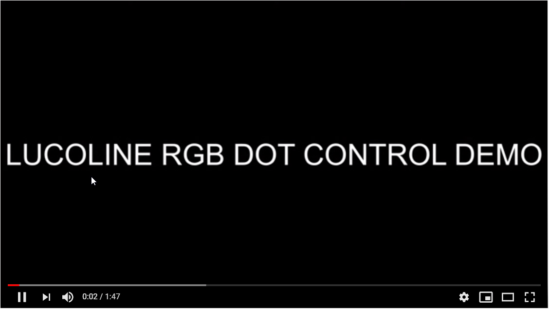 Image video Lucoline RGB dot controllable