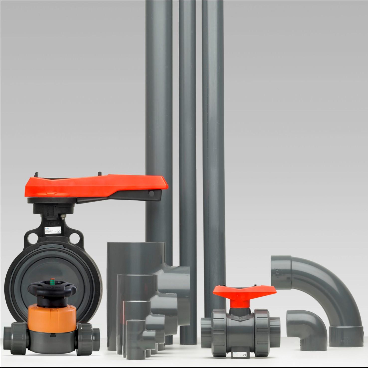 PVC-U kunststof industriële leidingsystemen