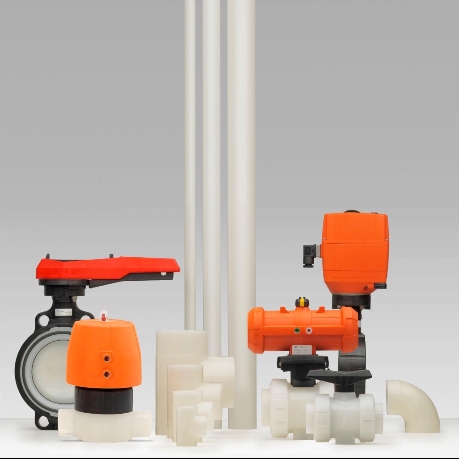 PVDF industriële kunststof leidingsystemen