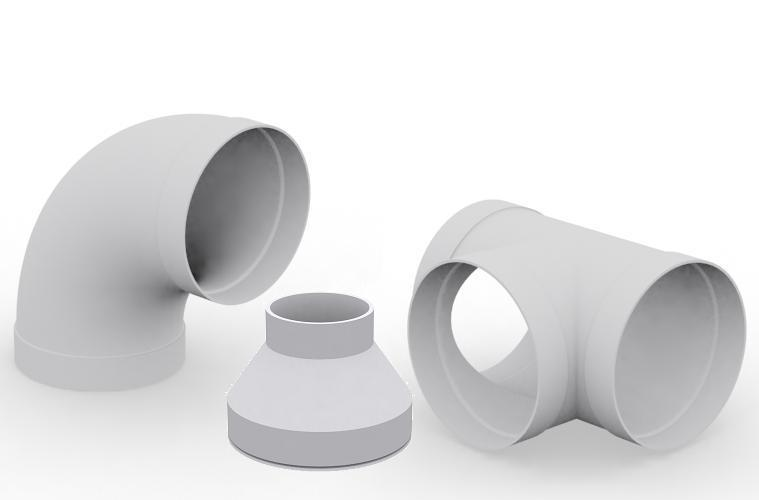 PVC-U wit Ventilatie leidingsystemen