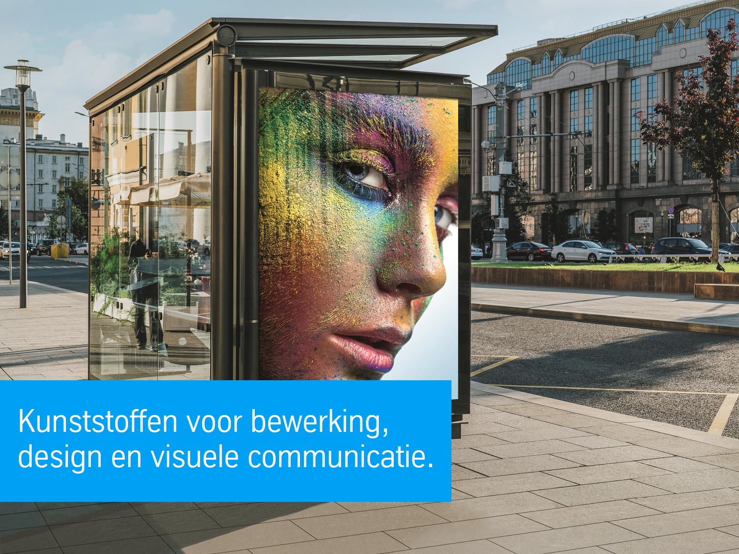 kunststoffen voor design, reclame en visuele communicatie